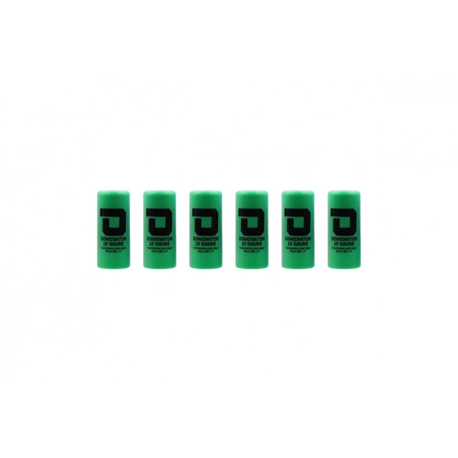 Dominator™ 12 Gauge Gas Shotgun Shell Hulls - Green (6 Hulls