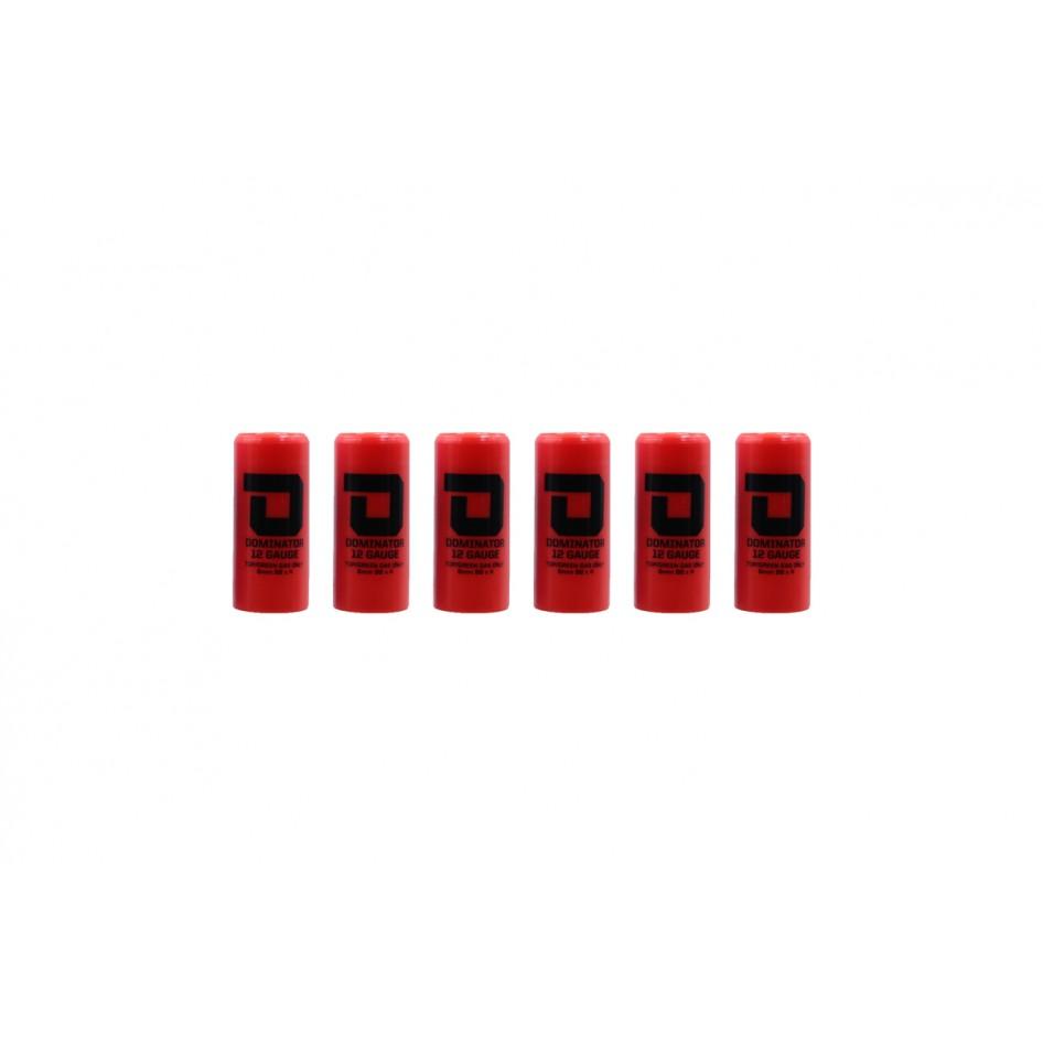 Dominator™ 12 Gauge Gas Shotgun Shell Hulls - Red (6 Hulls