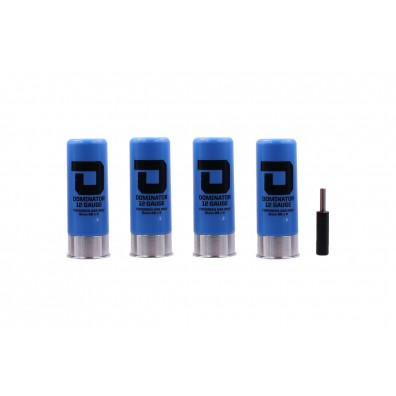 Dominator™ 12 Gauge Gas Shotgun Shells Package - Blue (4 Shells/Unit)