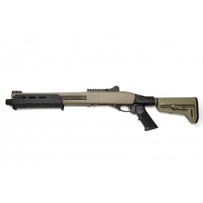 "Dominator DM870 Shell-Ejecting Shotgun - 14"" Barrel Tactical 6-Position Stock MP (Cerakote™ Flat Dark Earth)"